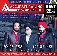 Accurate Railing & Awning